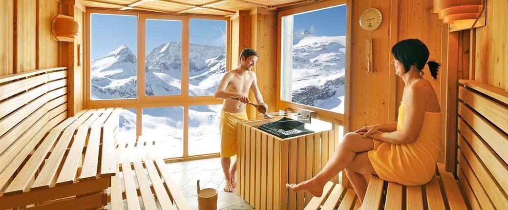 Horský hotel Rudolfshütte ve Weisssee Gletscherwelt